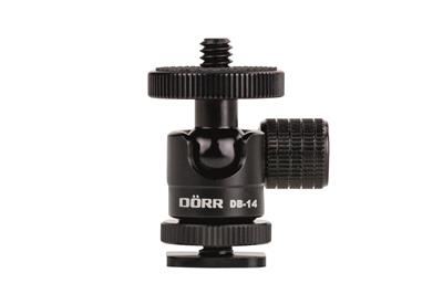 "DB-14 1/4"" Micro Ball Head w/Flash Hot Shoe"