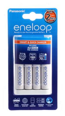 eneloop Quick Charger BQ-CC55E + 4x Ni-MH AA 1900m